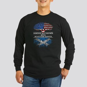 American Grown With Scottish R Long Sleeve T-Shirt